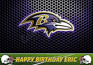 Pleasant The Baltimore Ravens Party Birthday Edible Icing Cake Topper 1 4 Birthday Cards Printable Opercafe Filternl