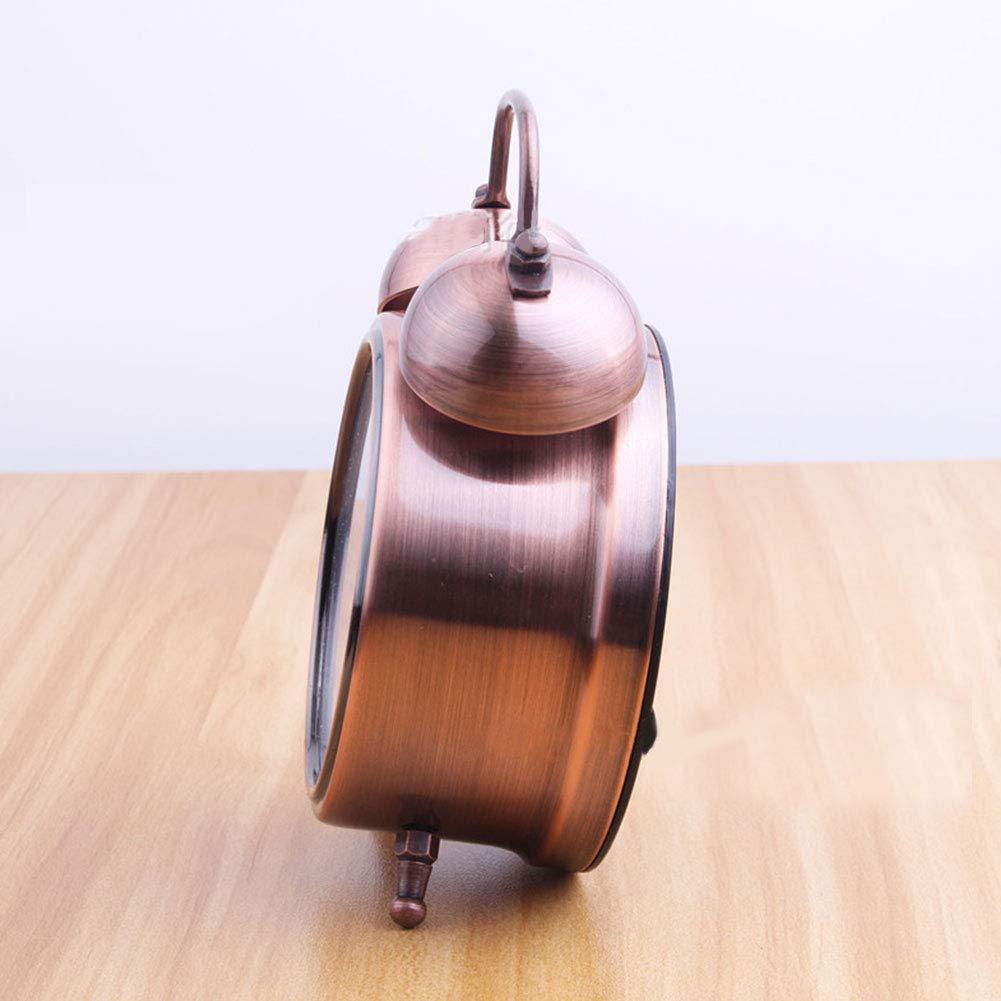in Metallo 7,6 cm Cinnamon FairOnly Stile retr/ò Sveglia da Comodino