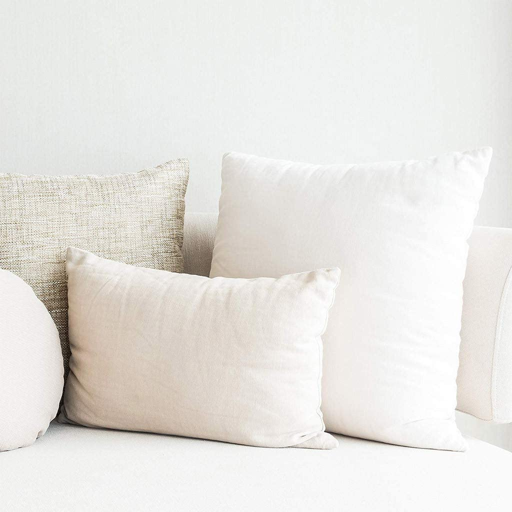 Standard//White 18 L X 18 W Vincent /& JulyHome Goods Premium Hypoallergenic Throw Pillow Insert Sham Square Form Polyester