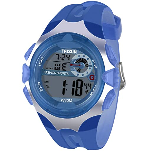 4e6d0f14b Kids Digital Watch - Water-Resistant LED Sport Hand Watch with Alarm,  Chronograph -