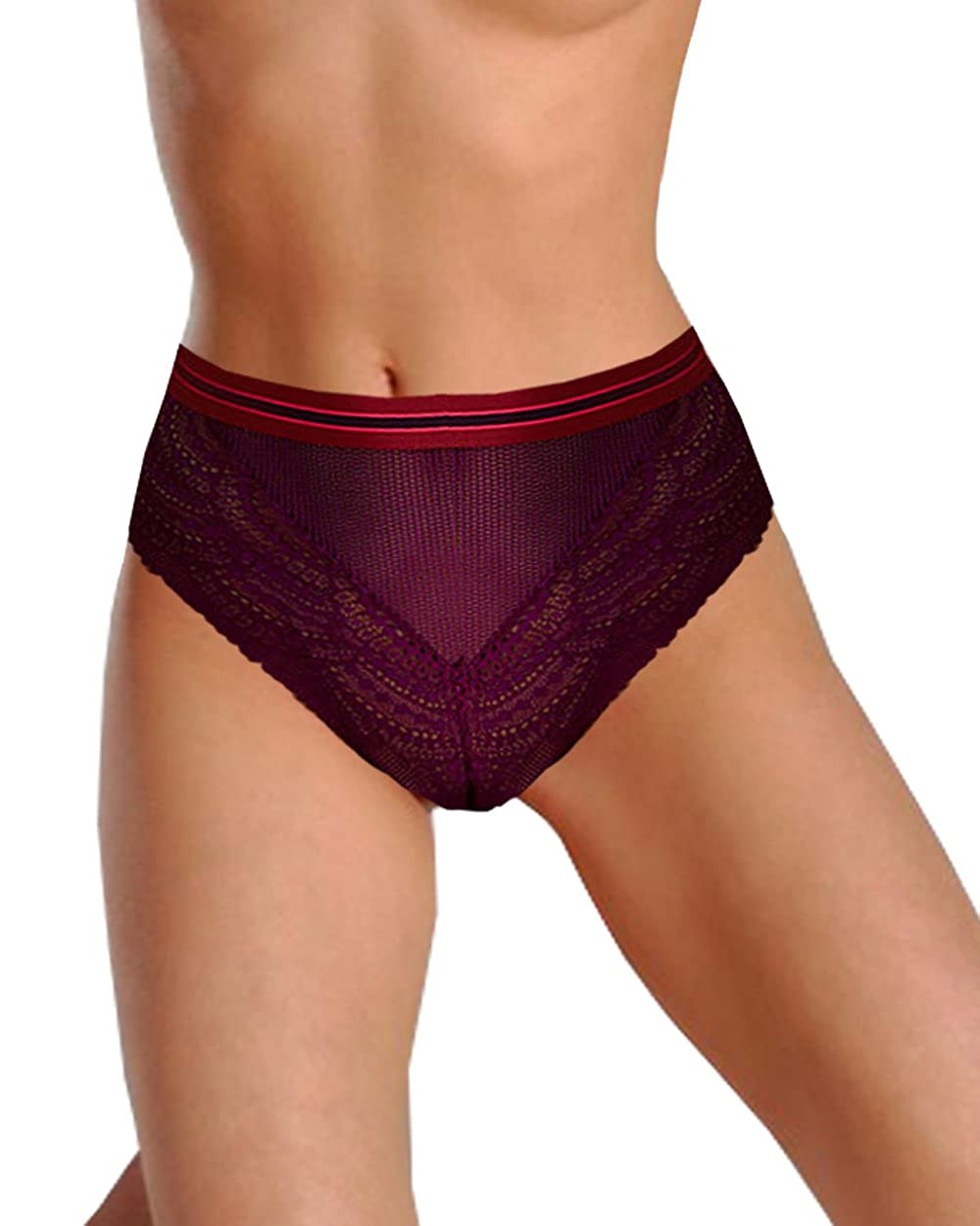 355149f48027 Victorias Secrets Very Sexy Banded High-Waist Cheeky Panty Purple Small at  Amazon Women's Clothing store: