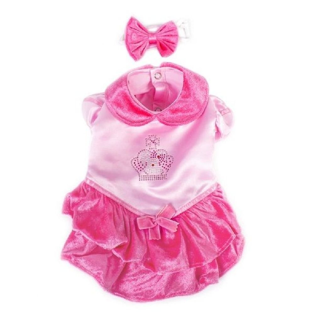 Dog Costume-Velvet Princess Pink Costumes-Dogs As Princesses