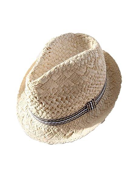 7246f2539e41d Amazon.com  Summer Lovely Bear Child Sun hat Beach Sunhat hat Trilby Straw  Panama Hat boy Girl Gangster Cap  Clothing