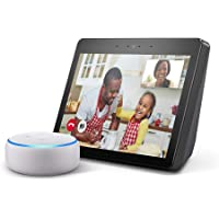 All-new Echo Show (2nd Gen), Charcoal and Echo Dot (3rd Gen), Sandstone