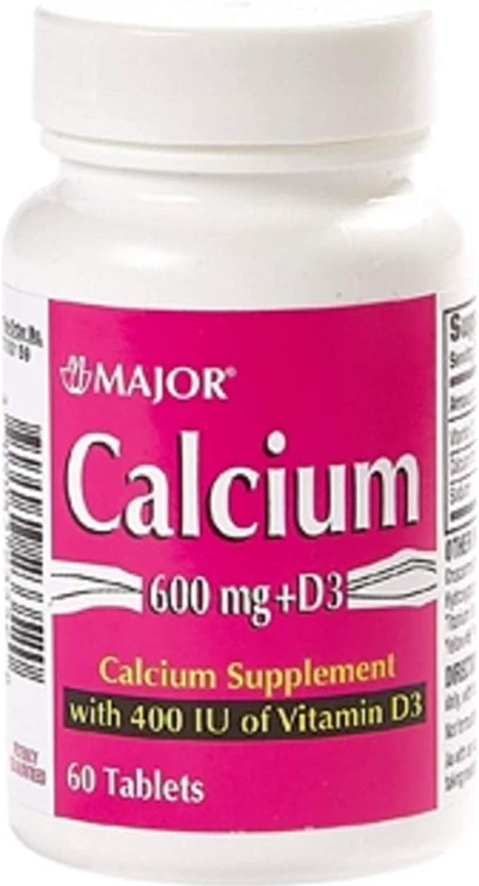 Amazon Com Major Calcium 600mg W D 400iu Calcium Carbonate 600 Mg Lt Peach Buff 60 Tablets Upc 309043233520 Health Personal Care