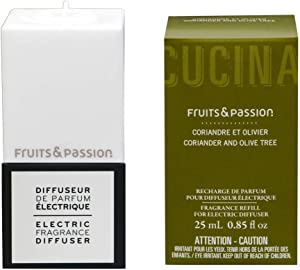 Fruits and Passion Electric Fragrance Diffuser Plug and Refill Set (Coriander and Olive Tree)