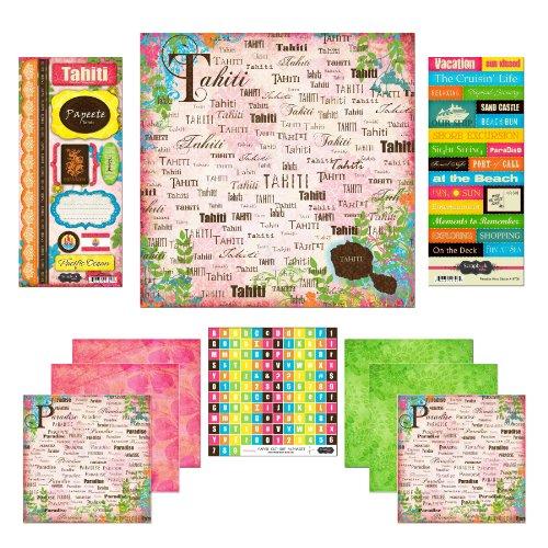 Scrapbook Customs Themed Paper and Stickers Scrapbook Kit, Tahiti Paradise