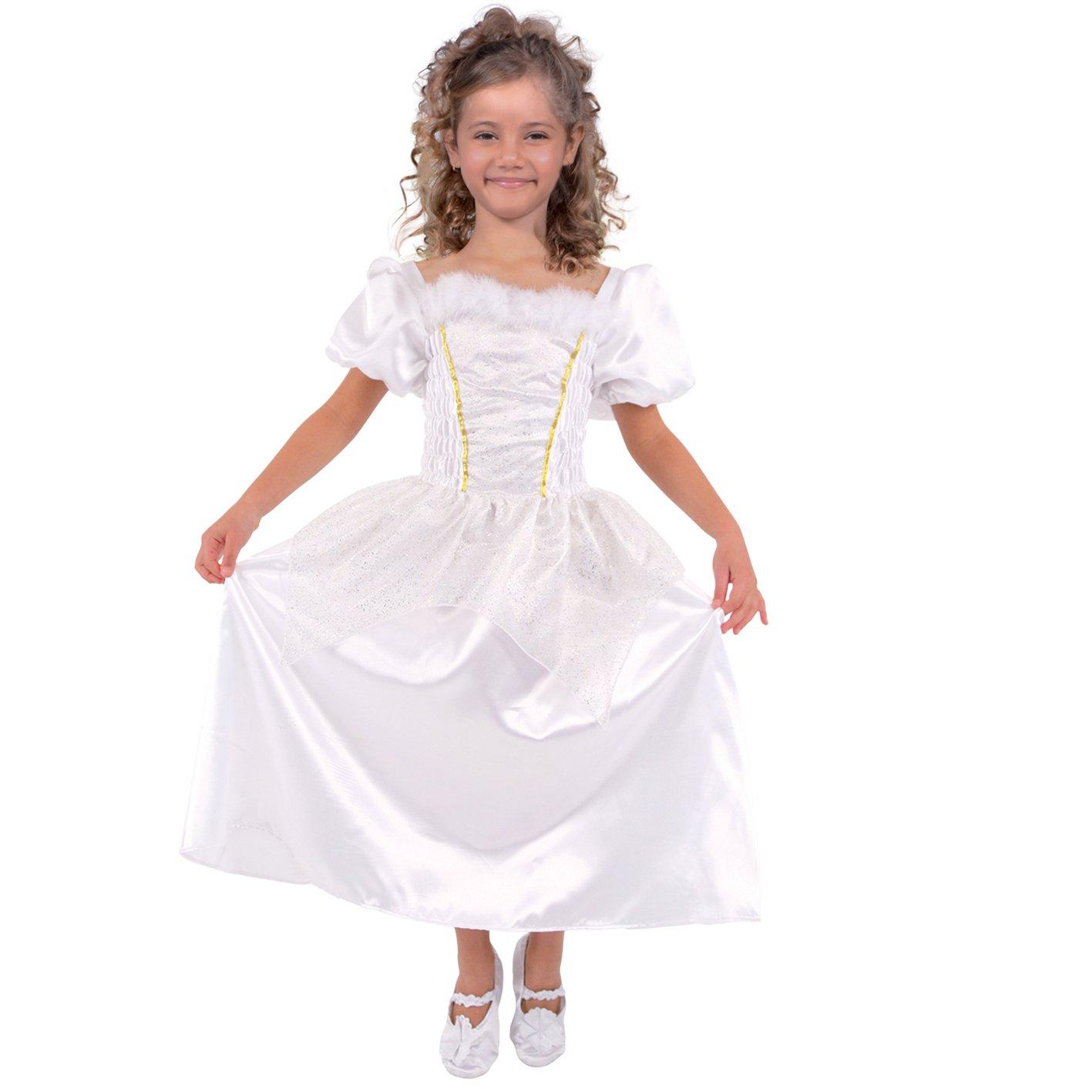 Cesar C692-006 - Costume da principessa, taglia 116 cm, colore  Bianco