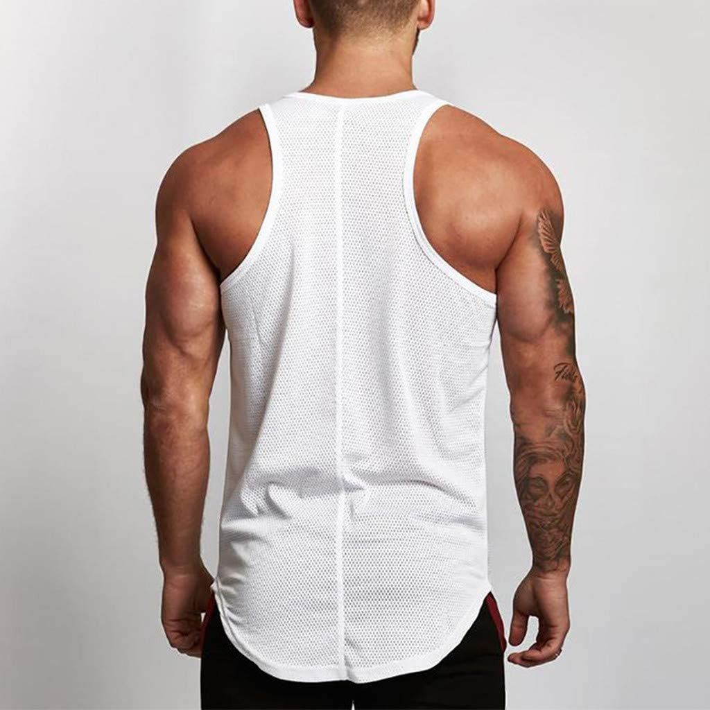ZODOF Camisetas Fitness Hombre Tirantes, Unidos Camiseta sin