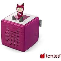 tonies Toniebox Starterset Beere für Kinder inkl. Kreativtonie, Ladestation und Bedienungsanleitung