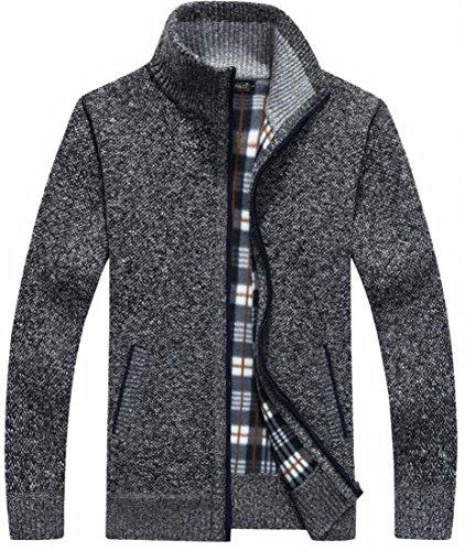 Mens Classiche Tasche Oggi Spessa 5 Maglia Full Outerwear uk Zip Cardigan nqCnwPTx