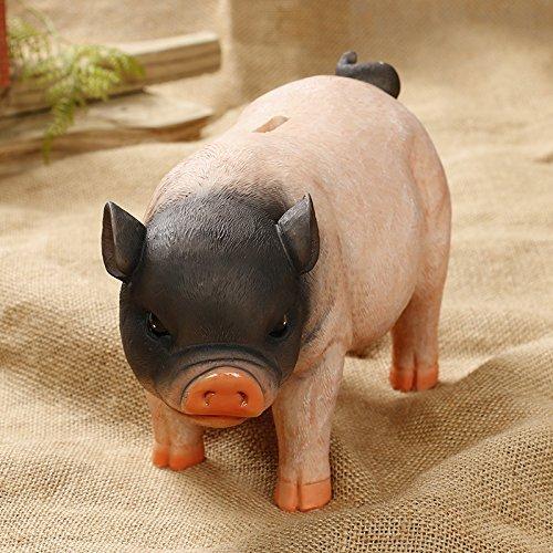 Creative Simulation Resin Pig Coin Money Piggy Bank ...
