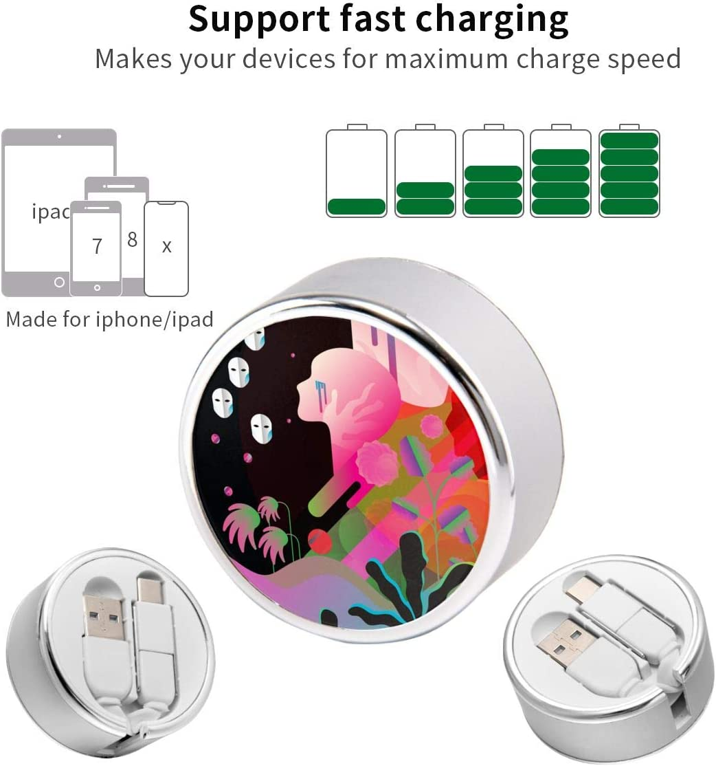 Multi Quick USB Charging Cable,Singularity 2 in1 Fast Charger Cord Connector High Speed Durable Charging Cord Compatible with iPhone//Tablets//Samsung Galaxy//iPad and More
