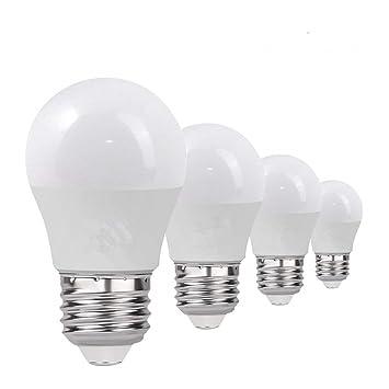 Velain Bombilla LED E27, 3W,250lm,Blanco Cálido 3000K,Equivalente 25W Incandescente,LED Lámpara,No Regulable(Pack de 4): Amazon.es: Hogar