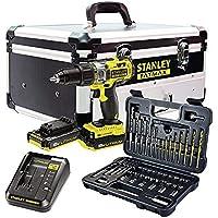 STANLEY FATMAX FMCK625D2F-QW - Taladro percutor 18V, 27.200 ipm, con 2 baterías de litio…