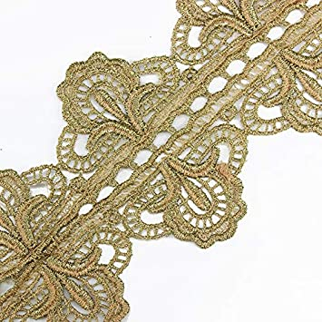 10yd Red Embroidered Lace Ribbon Trim Applique Motif Venise Trimming Scrapbooking Embellishment Sewing Accessories