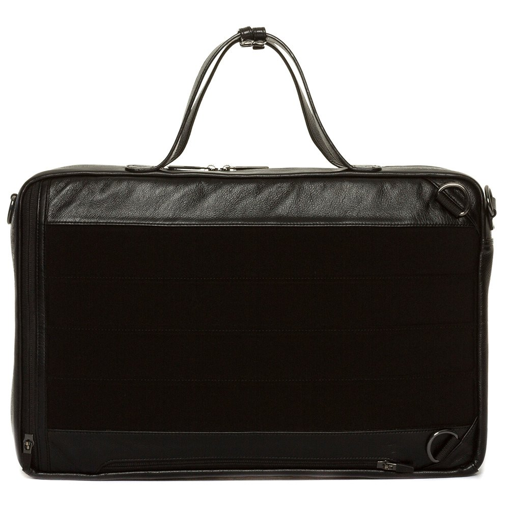 Black Black Hook and Albert Leather 3-Way Carryall BCBPLTH-BLK-OS