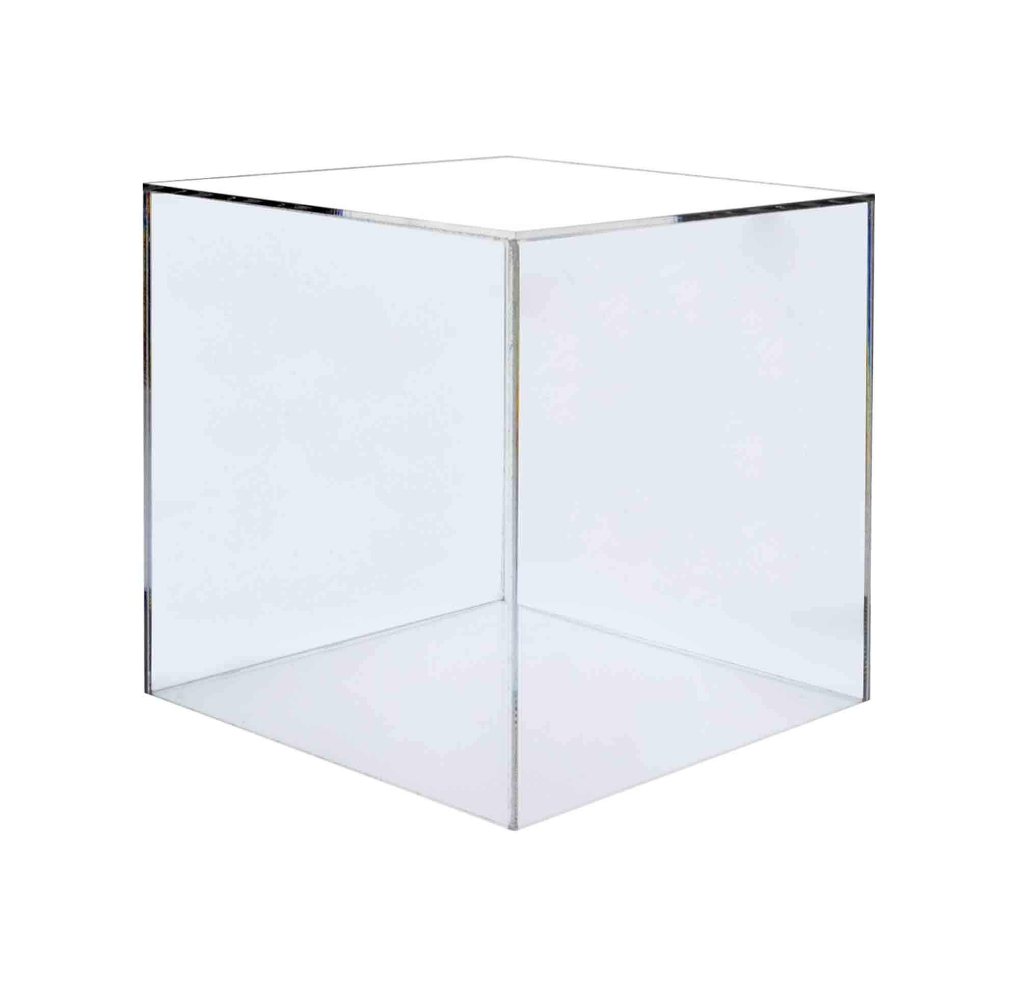 Marketing Holders Display Box Art Sculpture Pedestal Collectible Cube Cover Trophy Trinket Acrylic Showcase Stand Expo Event Wedding Reception Decor 5 Sided 16''w x 16''h x 16''d Pack of 2