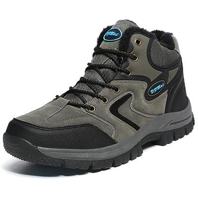 Scurtain Men's Waterproof Hiking Shoes Walking Trekking Mountaineering Outdoor Sneakers Winter Snow Boots