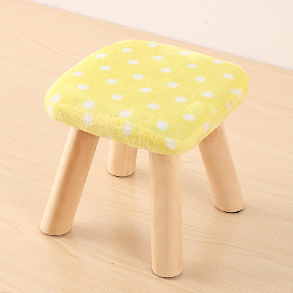 Duzhengzhou Pouf Footstool Square Footrest Seat Stool 4 Leg Stands Indoor Furniture(Pink, white, blue, red and white) (Color : 3)