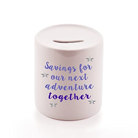 savings for our next adventure money jar ceramic money pot gift