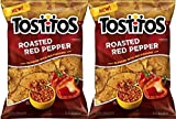 NEW Tostitos Roasted Red Pepper Chips Blended With MultiGrains-10 oz. (2)