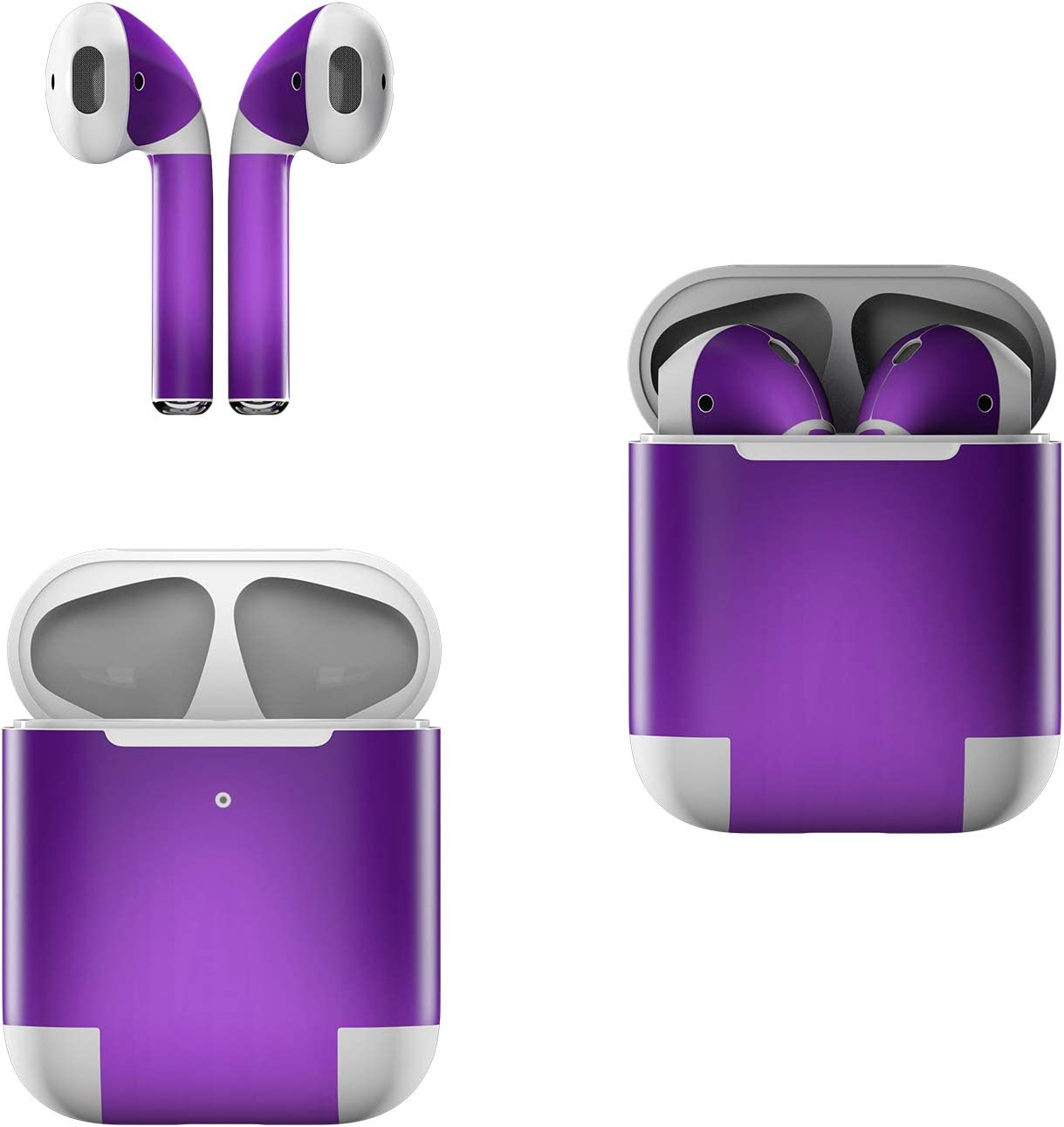 Skin Decals for Apple AirPods - Purple Burst - Sticker Wrap Fits 1st and 2nd Generation