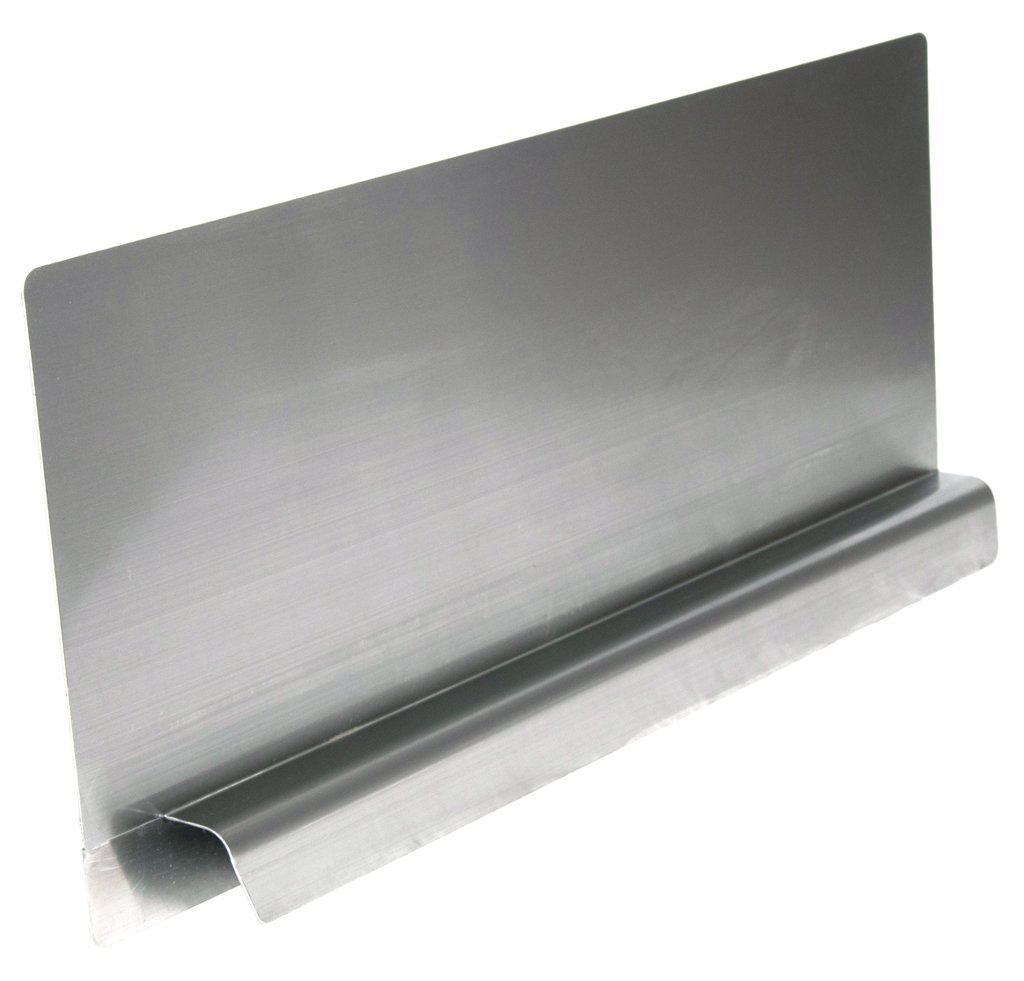 EquipmentBlvd Stainless Steel Reversible & Removable End Splash Guard for 24'' Bowl Size Compartment Sinks (28'' L x 12'' H)