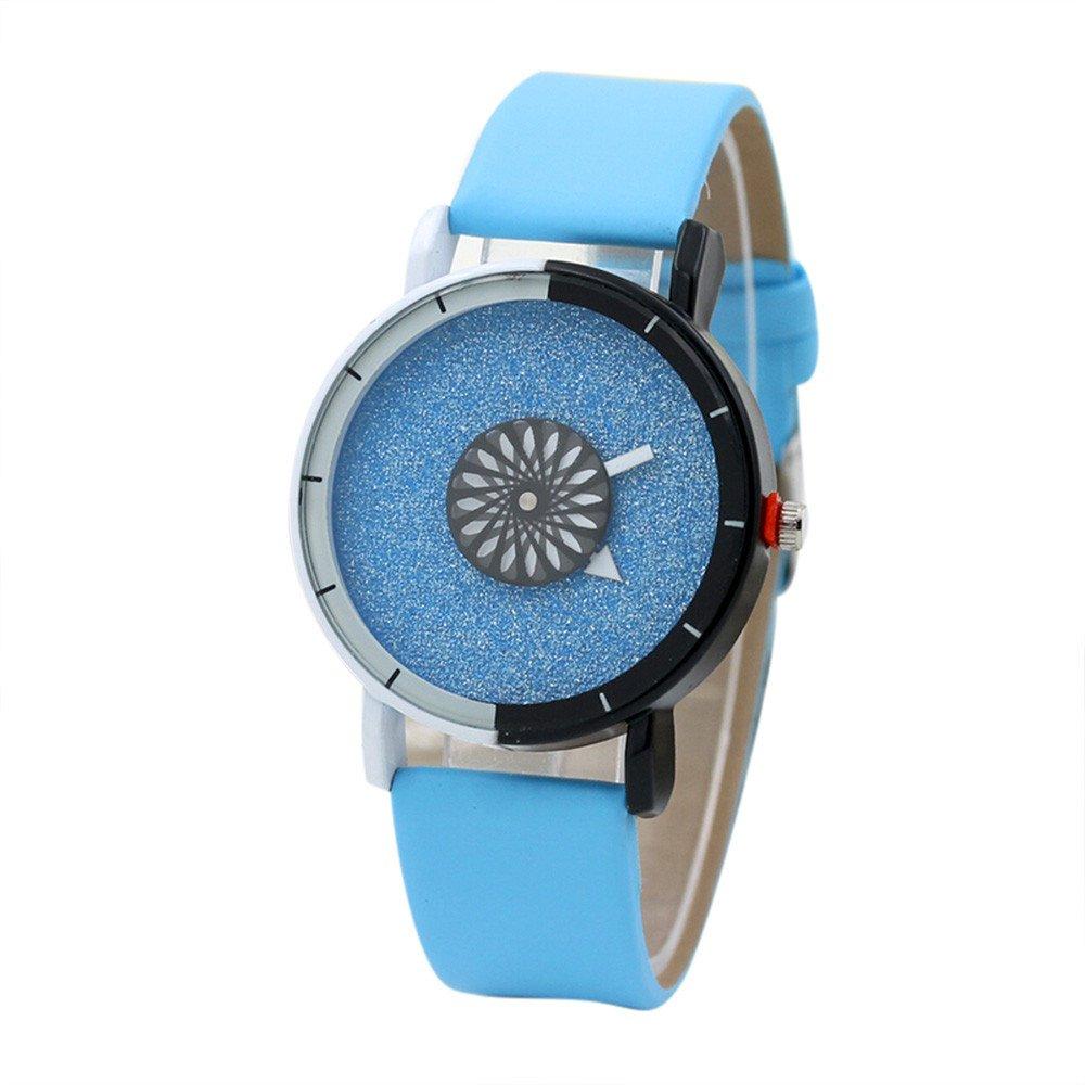 レディースQuartz Watches Cooki Clearanceレディース手首腕時計Womens Relojesレザーメスwatches-a13 4cm x 4cm ブルー B074SJ1GVM ブルー ブルー