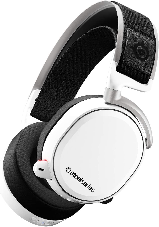 SteelSeries Arctis Pro Wireless - Auriculares de Juego inalámbricos (2,4 G y Bluetooth) - Blanco