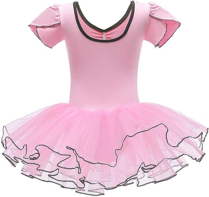 FONLAM Vestido Maillot de Danza Ballet para Ni/ña Maillot Actuaci/ón Ballet Tut/ú Tul Ni/ña
