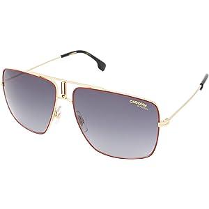 Amazon.com  Carrera 1006 s Rectangular Sunglasses, Black   Gold, 14 ... 95a364f71f0a