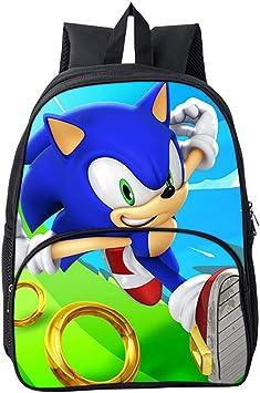 Mochilas Escolares Bolsas de Regalo Sorpresa a la Moda Hermosas Mochilas Escolares para Estudiantes xunlei Sonic el Erizo Adolescentes Mochila Mochila Sonic