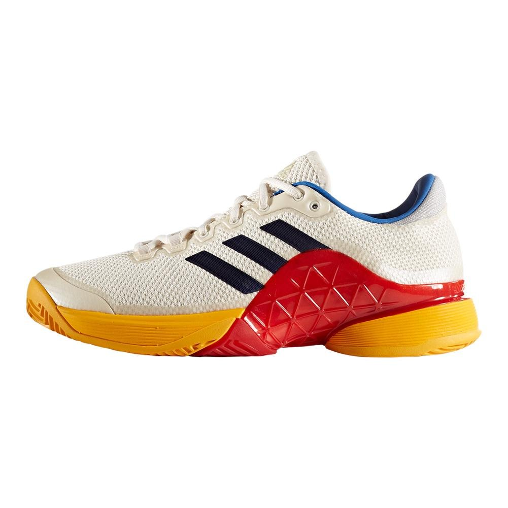 e16aa4ef042ce ADIDAS S81004-F17 Men`s Barricade 2017 Pharrell Williams Tennis Shoes  Scarlet and Chalk White  Amazon.co.uk  Sports   Outdoors