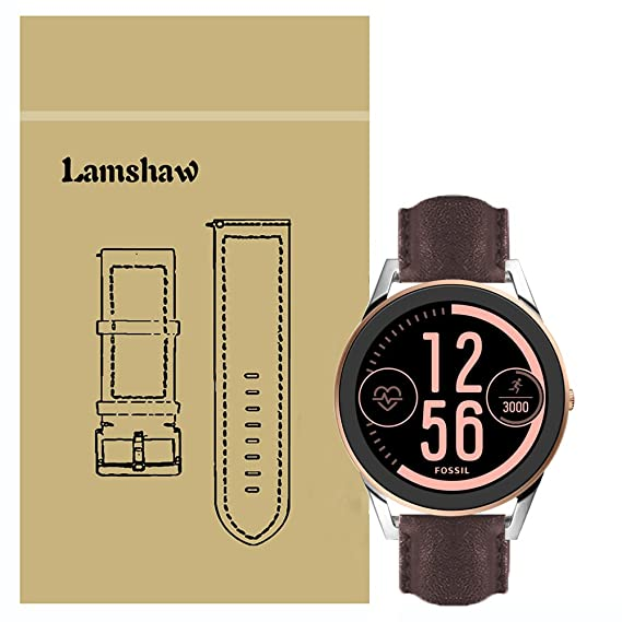 Amazon.com: For Fossil Q Control Band, Lamshaw Leather Strap ...