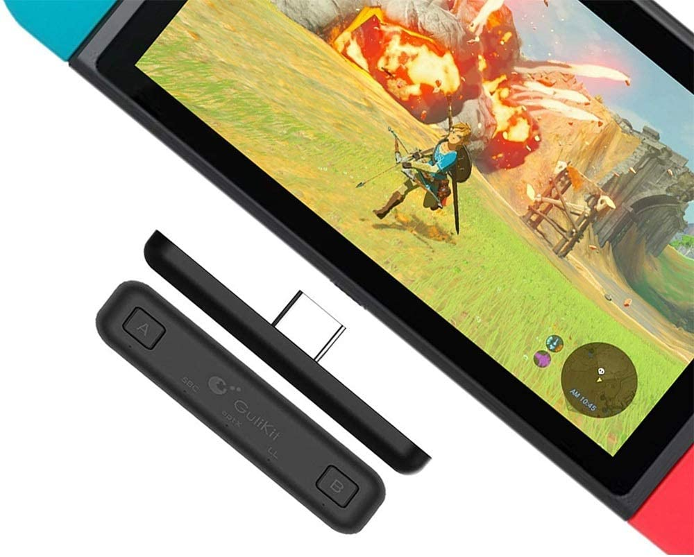 Amazon Com Bluetooth 5 0 Adapter For Nintendo Switch Switch Lite Ps4 Pc Laptops For Airpods Bluetooth Headphone Route Air Audio Transmitter Supports Wireless Bluetooth Headphones Speakers Home Audio Theater
