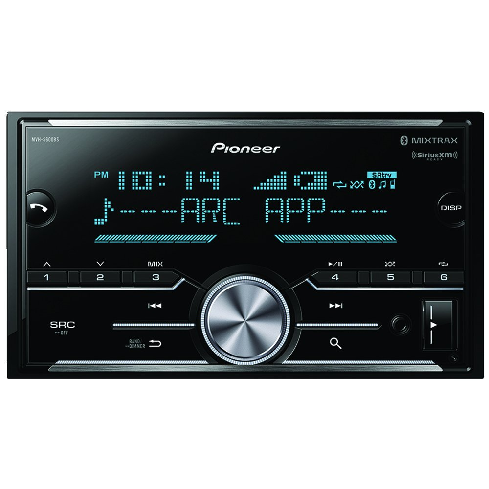"""Pioneer In-Dash Single DIN Digital Media Player Front USB Auxiliary MP3 AM//FM Radio Android phone app Control Advanced Remote Control Car Stereo Receiver with pair of 6.5/"""" and pair of 6x9/"""" Speakers Pioneer Electronics USA Inc"""