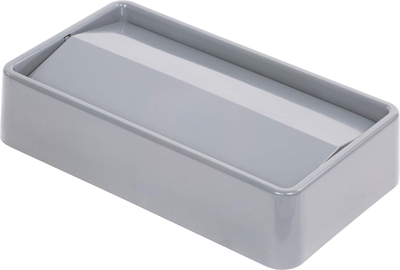 Gray 20.19 Length x 11.56 Width x 4-1//2 Height Carlisle 34202423 TrimLine Polyethylene Swing Top Lid