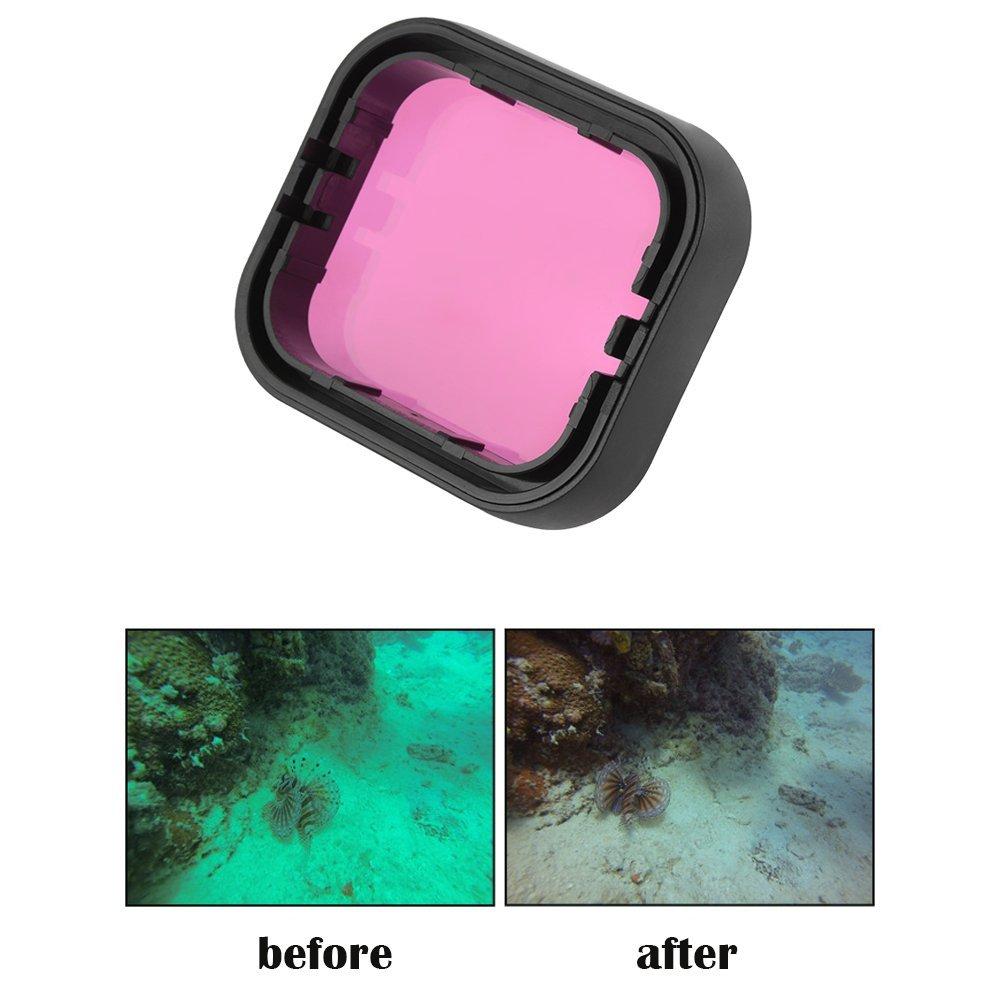 XCSOURCE赤/マゼンタレンズフィルタカバーUnderwater DivingフォトシューティングハウジングSnorkel Scuba for GoPro Hero 5 os972   B078CR4VLJ