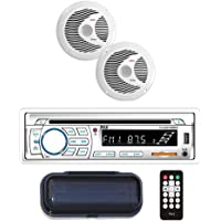 $87 Get Marine Stereo Receiver Speaker Kit - In-Dash LCD Digital Console Built-in Bluetooth & Microphone…