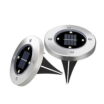 Led Terre Solaire De Sol 2 4 Lumière X Lampes Jardin Solaires 7gyb6f