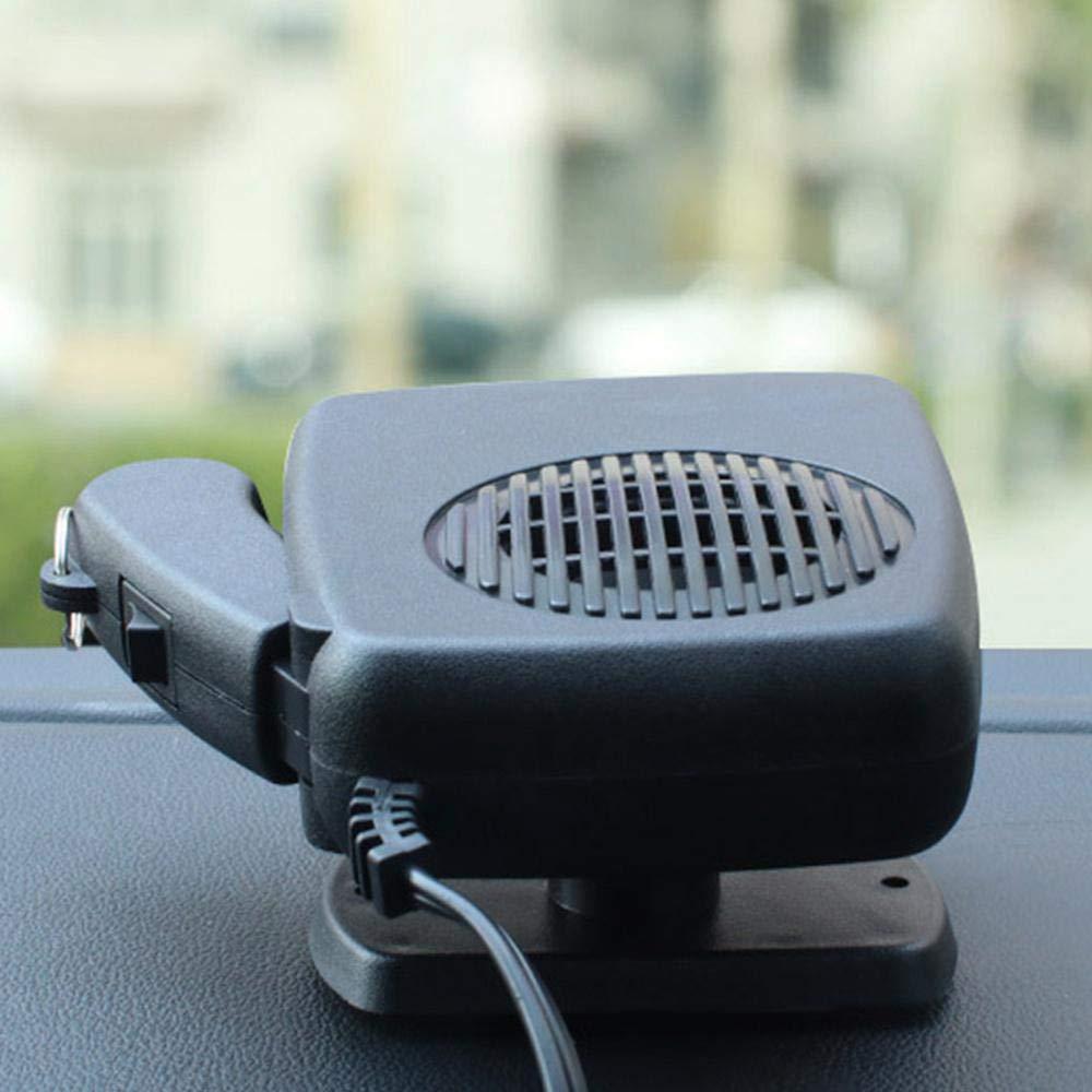 2-in-1-K/ühler und Heizl/üfter zum Anschlie/ßen eines Zigarettenanz/ünders Womdee Auto Scheibenenteiser Heizl/üfter 360/° Drehbar 12V 150W Windshield Defogger Defroster mit Ergonomischem Griff