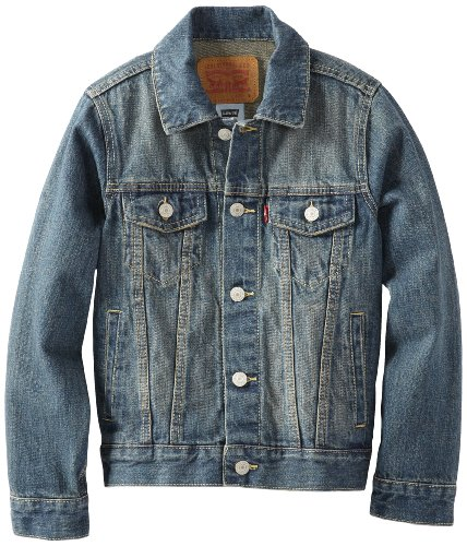 Levi's Boys' Big Kids Denim Trucker Jacket, Atlas M ()