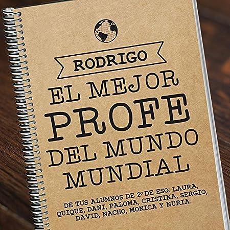 cuaderno personalizado con su nombre Regalo para profesores personalizable Mejor profe