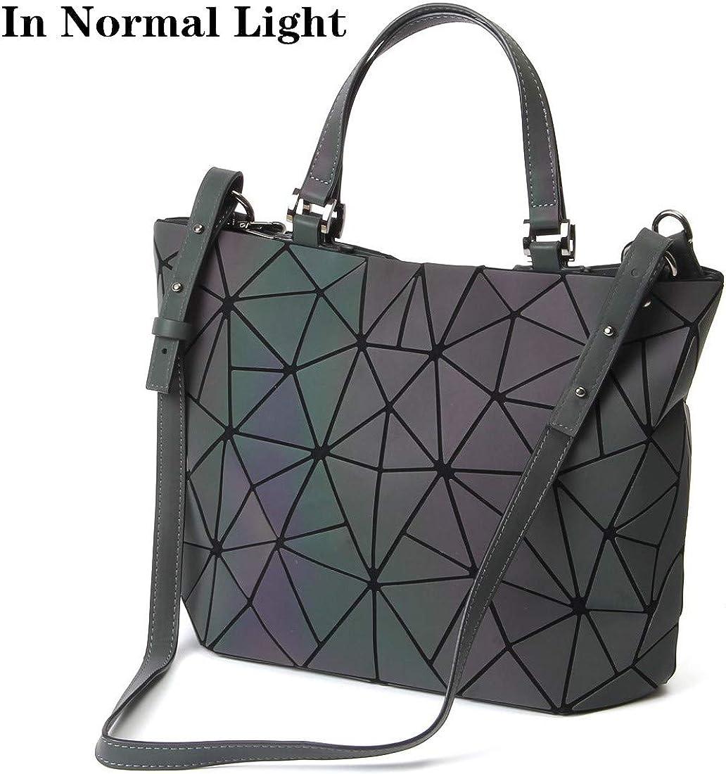 HOT ONE Colour Cambia Borse e borsette luminose geometriche Borsa olografica Borsa riflettente Borsa Moda 9# Argento Borsetta
