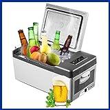 F-BOX 車載用 冷凍庫15L 冷蔵庫 ポータブル 2電源 AC DC 釣り キャンプ 電源付き -20℃~20℃まで温度設定可能 家庭用に 自室に