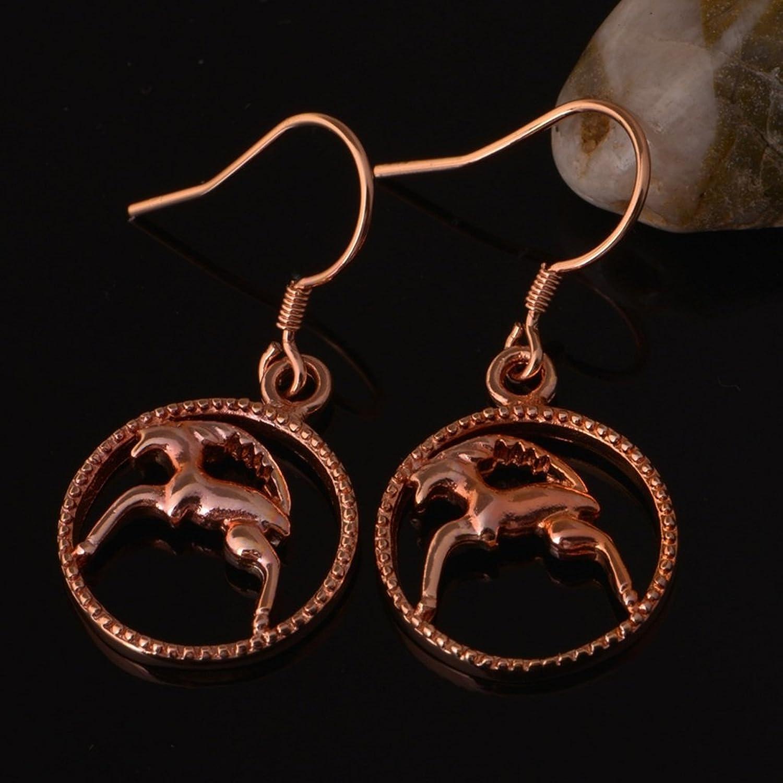 Beydodo 18k Rose Gold Damen Ohrhänger Ohrringe Französisch Draht ...