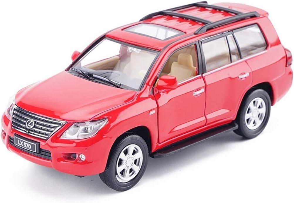 Pkjskh Simulación del modelo del coche ornamentos del coche Seis puertas abiertas fuera de la carretera juguetes Colección de aleación modelo de coche de niños tire hacia atrás juguetes del regalo de