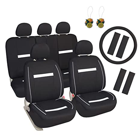 Amazon.com: Leader Accessories 17pcs Universal Car Seat Covers Full