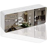 Freewalk Digital Alarm Clock, Bedside Alarm Clocks with Snooze Time Temperature Mirror Surface Function LED Digital…